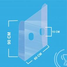 Painel de PVC transparente de proteção 2mm 90x60cm