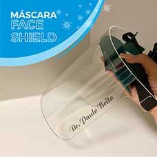 Máscara Protetora Facial (face shield) em Acrílico Cristal