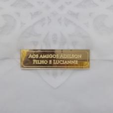 FECHO DE CONVITE DE CASAMENTO EM ACRÍLICO